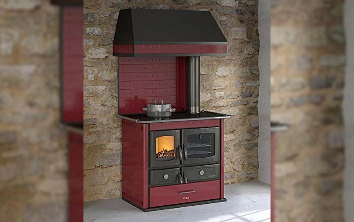 Bordeaux wood-burning thermo stove with hood
