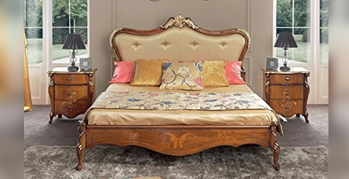 Full room, consisting of double bed, dark wood color-new