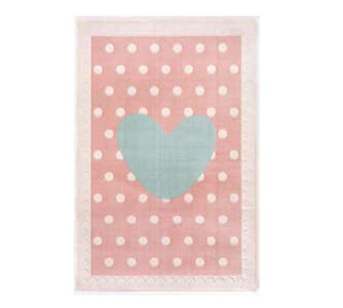 Pink Background Carpet with Heart