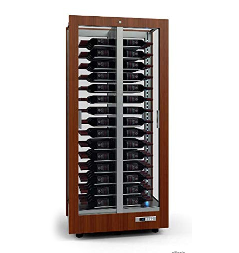 Wine cellar for wine, spirits and champagne Aluminum structure – Solid wood frame