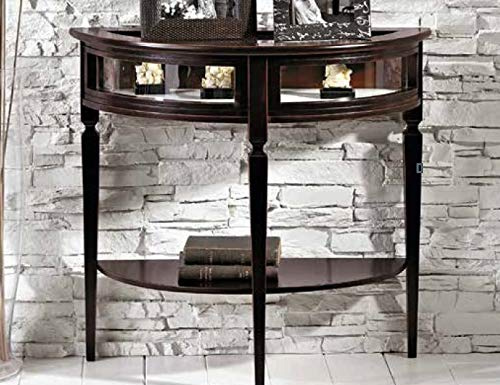console with shelf, black color