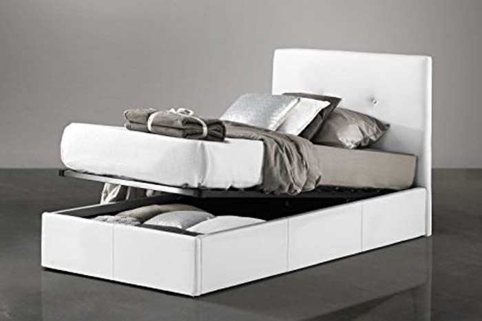 Single bed with container