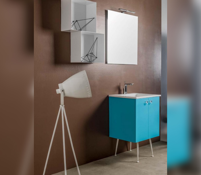 Matte effect bathroom furniture