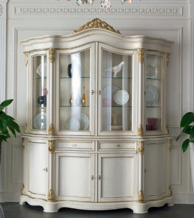 White lacquered classic style showcase2