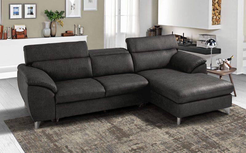 divano angolare nero