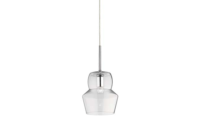 1 Light Chandelier – Transparent