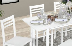 Set of tables with chairs