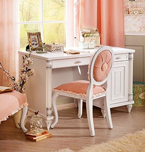 Camera da letto bambini - Composta da: Letto , baldacchino , armadio ,  comodino , pouf , lampadario , sedia e scrivania - (DF11)