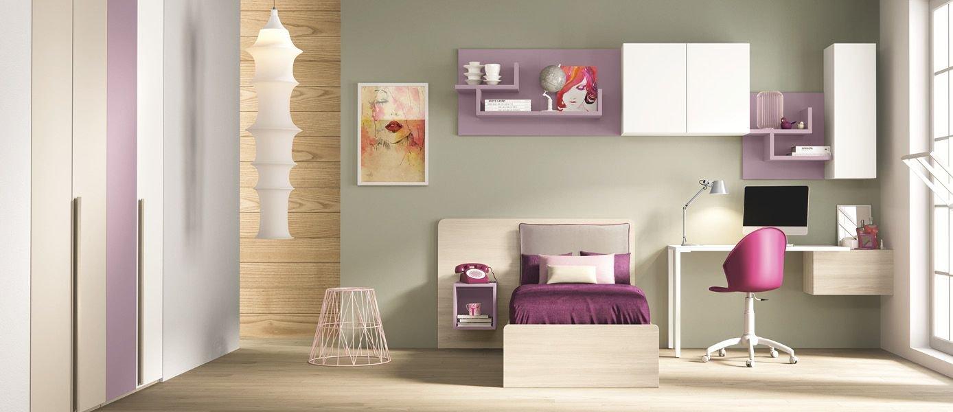 Chambre coucher compl te pour les filles mauve blanche gris tourterelle orme comprend - Chambre a coucher mauve et gris ...