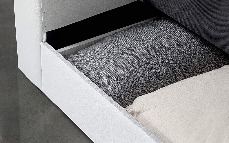 Slaapbank Wit Leer.Dafnedesign Com Sofa 3 Plaatsen Kleur Wit En Grijs Bekleding