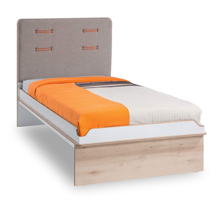 Bed Frame For Child S Or Boy S Bedroom Upholstered Headboard In Fabric Dafne Italian Design