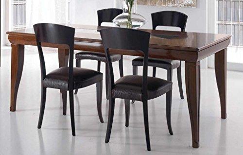Mesa extensible rectangular para sala de estar y comedor, color ...