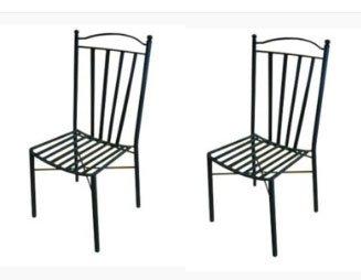 Dafnedesign.com – n° 2 Sedie in ferro da terrazzo o giardino – Peso ...
